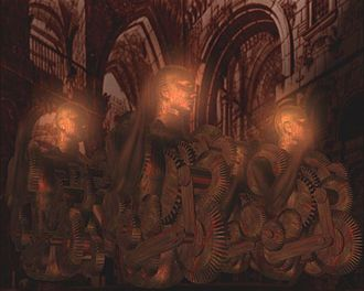 """Money, A Mythology of Darkness - A scene from the first European 3D animation feature, """"Money, a mythology of Darkness"""" ."""
