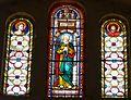 Montrem église vitraux au-dessus portail.JPG