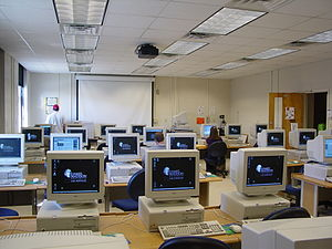 Computing - Computer laboratory, Moody Hall, James Madison University, 2003