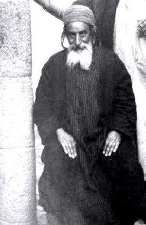 Yihya Yitzhak Halevi - Mori Yitzḥak, Chief Rabbi of Yemen, during his latter years