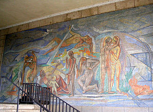 GeSoLei - Mosaic by Heinrich Nauen commissioned for the Tonhalle, built for the GeSoLei