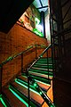 Moscow, illuminated stairs at the Zu cafe.jpg