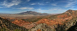 Mount Hillers at the core of the Henry Mountains in Utah.jpg