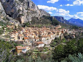 Moustiers-Sainte-Marie Commune in Provence-Alpes-Côte dAzur, France