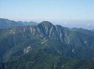 Mount Shiomi - Image: Mt.Shiomidake from Mt.Ainodake