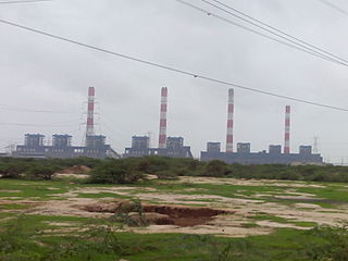 Mundra Thermal Power Station building in India