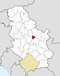 Location of the municipality of Svilajnac within Serbia