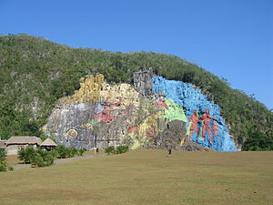 Viñales Valley - Mural in Viñales Valley