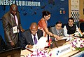 Murli Deora and the Minster of Petroleum, Angola, Mr. Jose Maria Botelho de Vasconcelos signing an MoU to promote bilateral cooperation in the Oil & Natural Gas sector between India and Angola.jpg