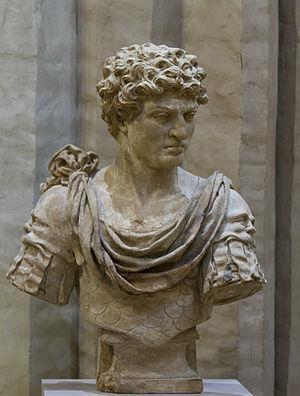 Marcus Antonius Primus - Terracotta bust by Marc Arcis
