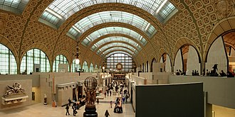 Gare d'Orsay - Main alley of the Orsay Museum in Paris, France.