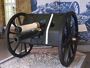 Ordnance QF 13-pounder - The Néry Gun, on display at IWM London, April 2008