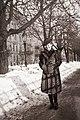 Női portré 1940-ben Budapesten a Bem rakparton. Fortepan 14722.jpg