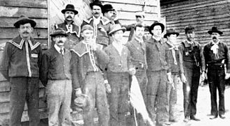 "Wilmington insurrection of 1898 - A group of ""Red Shirts"""