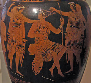 Attic red-figure amphora. The Calydonian Boar ...