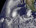NASA Captures Two Major Hurricanes- Darby Trailing Celia (4733353463).jpg