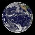 NASA GOES-11 Full Disk view of Earth June 17th 2010 (4709943236).jpg