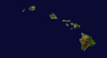 Isole vulcaniche: immagine satellitare dell'arcipelago delle Hawaii