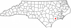Location of Pumpkin Center, North Carolina