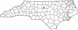Location of Saxapahaw, North Carolina