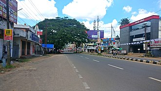 Chathannoor - Image: NH 66 through Chathannoor Town, Oct 2018