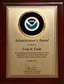 NOAA Administrator's Award Plaque.jpg