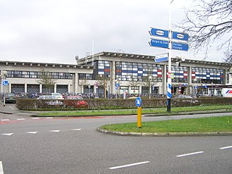 Goes - Front of the railway station in Goes