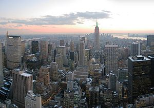 English: Looking south from Top of the Rock, N...