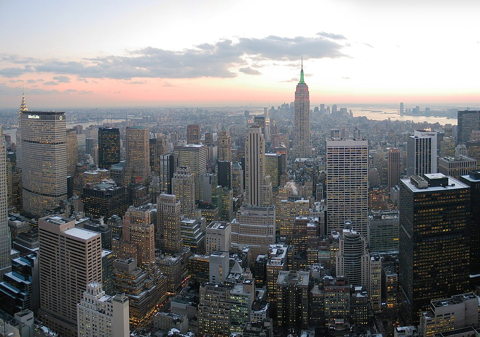NYC wideangle south from Top of the Rock