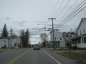New York State Route 812 - NY 812 north at NY 126 in Croghan. Prior to the 1970s, NY 26A entered this junction on modern NY 812 and left to the west on current NY 126.