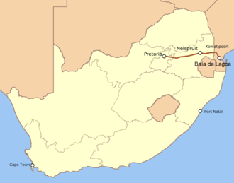 Netherlands-South African Railway Company - The route of the Pretoria–Maputo Line