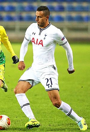 Nacer Chadli - Chadli playing for Tottenham Hotspur in 2013
