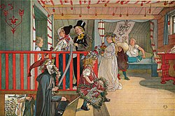 Carl Larsson: A Day of Celebration. From A Home (26 watercolours)