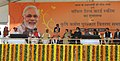Narendra Modi at the launch of the 'Soil Health Card Scheme', at Suratgarh, in Rajasthan. The Governor of Rajasthan, Shri Kalyan Singh, the Union Minister for Agriculture, Shri Radha Mohan Singh.jpg