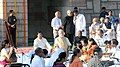 Narendra Modi attending the Sarva Dharma Prarthana Sabha at the Samadhi of Mahatma Gandhi on his 146th birth anniversary, at Rajghat, in Delhi. The Union Minister for Urban Development.jpg