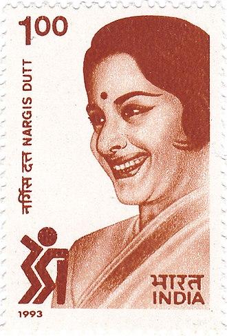 Nargis - Nargis on a 1993 stamp of India