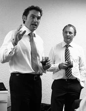 Stuart Nash - Nash and Phil Goff addressing community groups in 2011.
