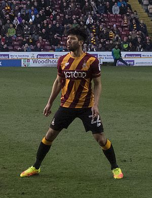 Nathaniel Knight-Percival - Knight-Percival playing for Bradford City in 2016