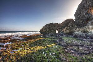 Gunung Kidul Regency - A halo at Ngobaran beach, one of many scenic beaches in Gunung Kidul Regency