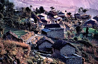 Naudanda City in Gandaki Zone, Nepal