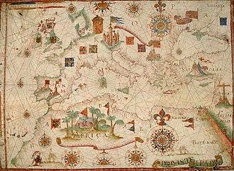 Jack Ward - Nautical Chart of the Mediterranean Sea (1600)