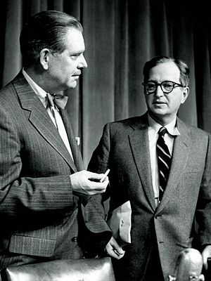 Lawrence E. Spivak - Spivak at right with Ned Brooks, 1960.