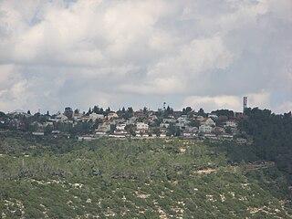 Halamish Israeli settlement in the West Bank
