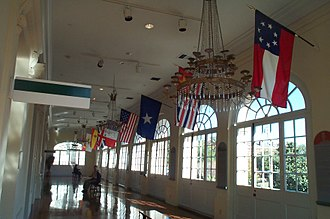 Louisiana State Museum - 2nd Floor gallery of the Cabildo, 10 flags over Louisiana
