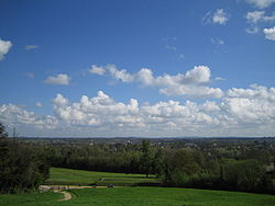 Newbury is in the Kennet valley. (As viewed from Donnington Castle)