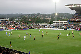 Soccer in Australia - An A-League match between Newcastle Jets and Sydney FC at Newcastle Stadium, 3 November 2007.