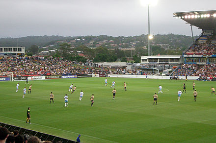 Newcastle Jets and Sydney FC at EnergyAustralia Stadium. Newcastle-Sydney EnergyAustralia.jpg