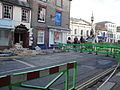 Newport Lower St James Street road closure after bus accident in March 2012 4.JPG