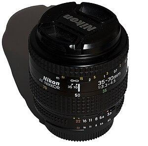 Nikon AF Zoom-Nikkor 35-70 mm f/3.3-4.5 - Image: Nikon 35 70mm f 3.3 f 4.5