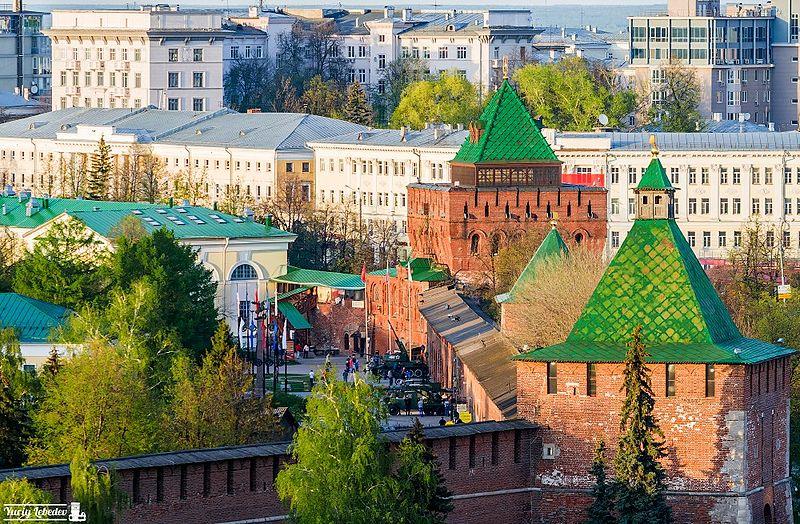 Nizhny Novgorod Kremlin, vista desde el techo